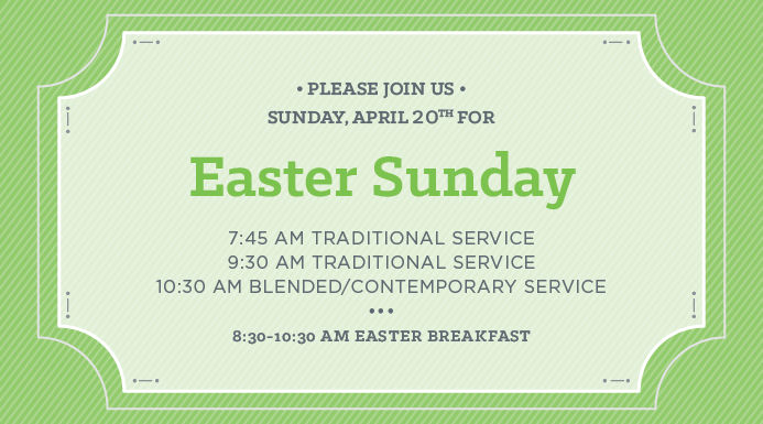 Join us for Easter Sunday!